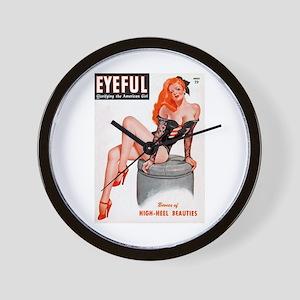 Eyeful Sitting Redhead Beauty Pin Up Wall Clock