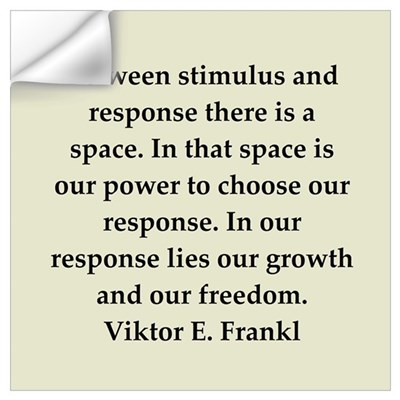 Viktor Frankl quote Wall Decal