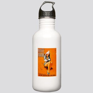 Beauty Parade Girl Pin Up Stainless Water Bottle 1