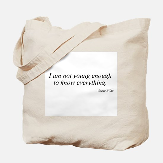 Oscar Wilde quote 3 Tote Bag