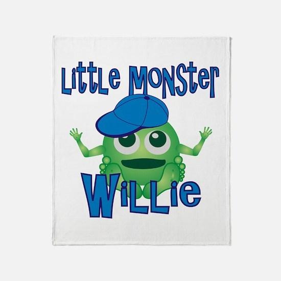 Little Monster Willie Throw Blanket