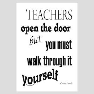 Teachers open the door...2