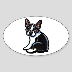 Cute Boston Terrier Sticker (Oval)