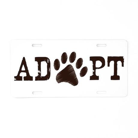 Adopt an Animal Aluminum License Plate
