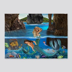Mermaids of the Pirate Cave 5'x7'Area Rug