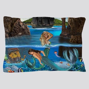 Mermaids of the Pirate Cave Pillow Case