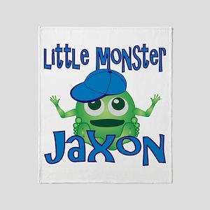 Little Monster Jaxon Throw Blanket