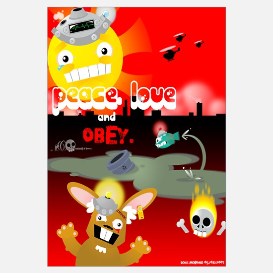 """Peace, Love and Obey 16""""x20"""""""