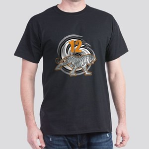 12th Birthday Tiger Dark T-Shirt