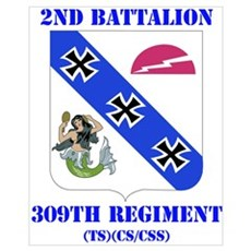 DUI - 2nd Bn - 309th Regt (TS) (CS/CSS) with Text Poster