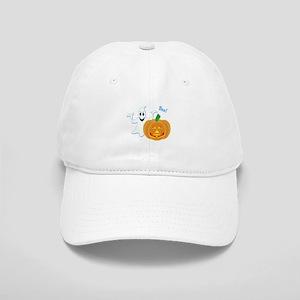 Ghost with Pumpkin Boo! Cap