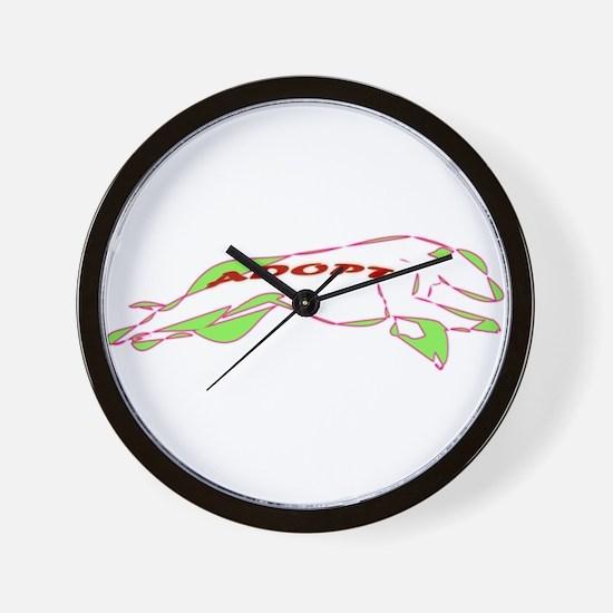Adopt a Greyhound - Retro Wall Clock