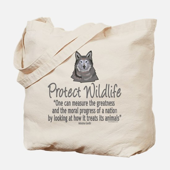 Protect Wolves Tote Bag