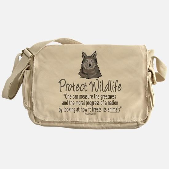Protect Wolves Messenger Bag