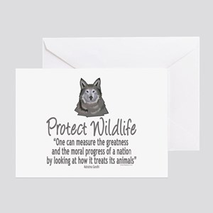 Protect Wolves Greeting Card