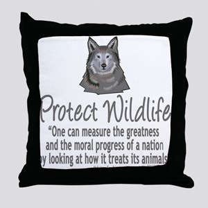 Protect Wolves Throw Pillow