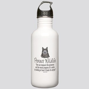 Protect Wolves Stainless Water Bottle 1.0L
