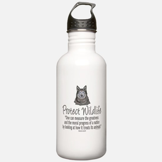 Protect Wolves Water Bottle