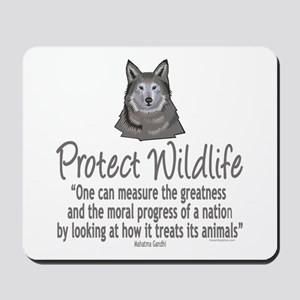 Protect Wolves Mousepad