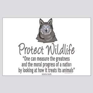Protect Wolves Large Poster