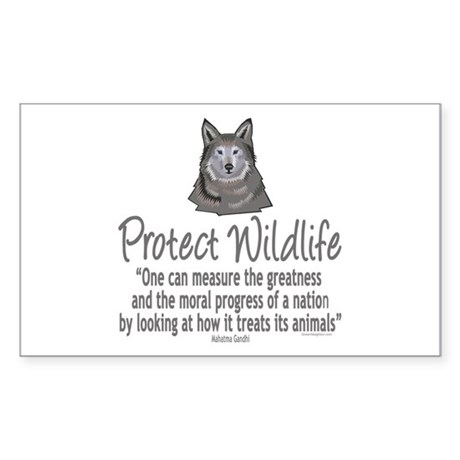 Protect Wolves Sticker (Rectangle 10 pk)