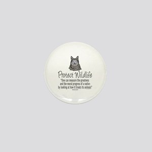 Protect Wolves Mini Button