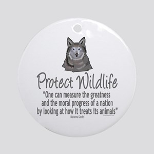 Protect Wolves Ornament (Round)