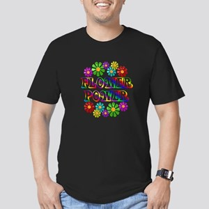 Flower Power Men's Fitted T-Shirt (dark)