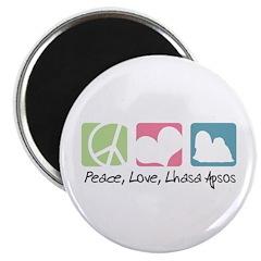 Peace, Love, Lhasa Apsos Magnet