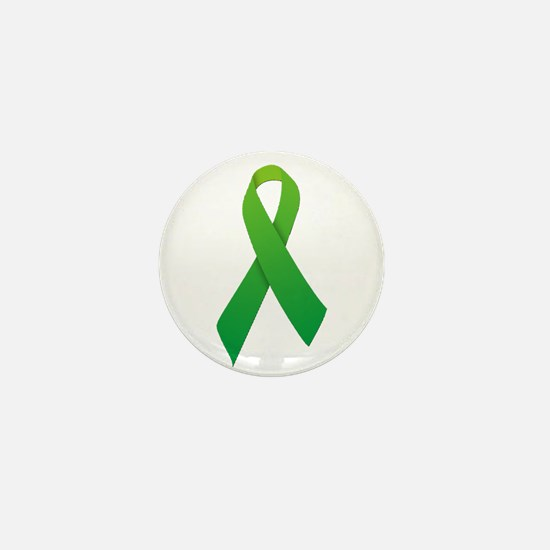 Green Ribbon Mini Button