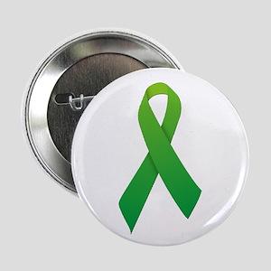 """Green Ribbon 2.25"""" Button"""