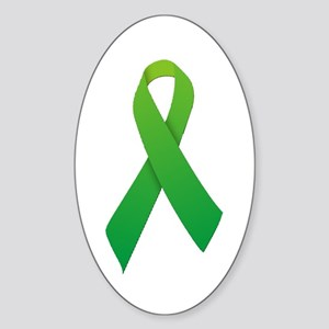 Green Ribbon Sticker (Oval)