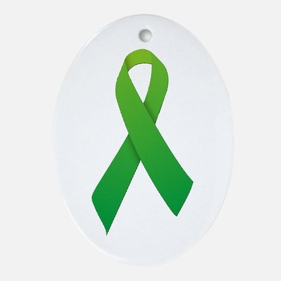 Green Ribbon Ornament (Oval)