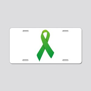 Green Ribbon Aluminum License Plate