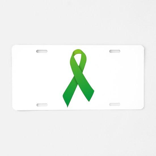 Green Ribbon Aluminum License Plate