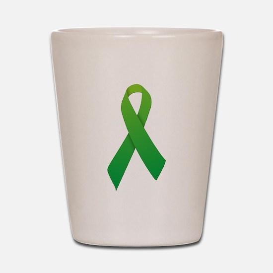 Green Ribbon Shot Glass