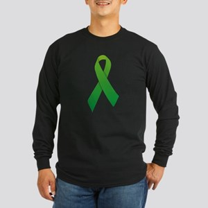 Green Ribbon Long Sleeve Dark T-Shirt