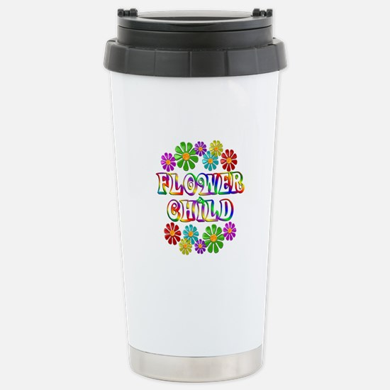 Flower Child Stainless Steel Travel Mug