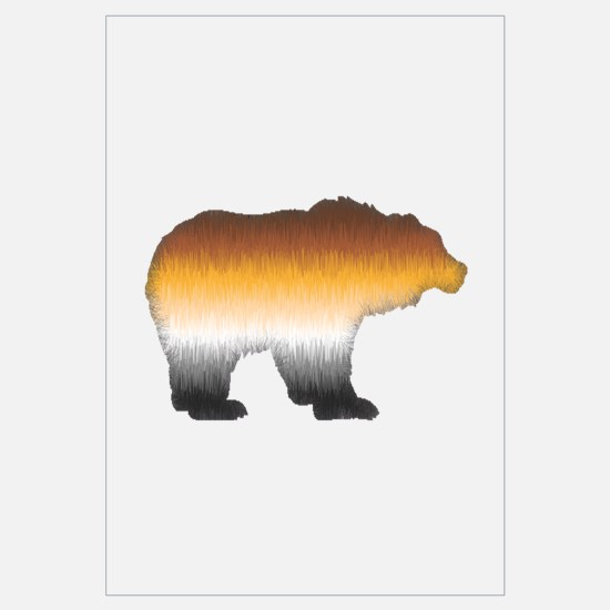 FURRY BEAR PRIDE BEAR CUTOUT