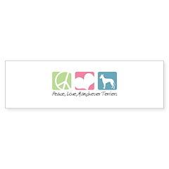 Peace, Love, Manchester Terriers Bumper Sticker