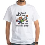 Bachelor Party Personalized (Date) White T-Shirt