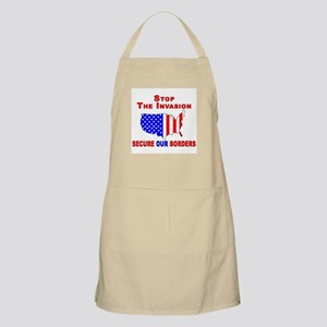 STOP The Invasion  BBQ Apron