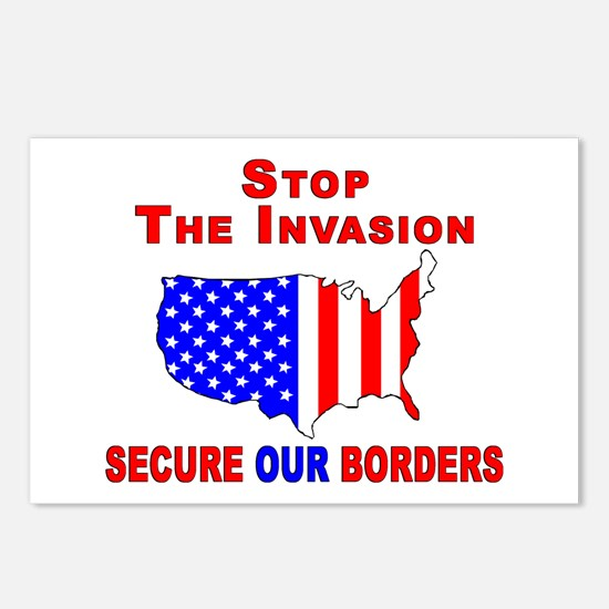 STOP The Invasion  Postcards (Package of 8)