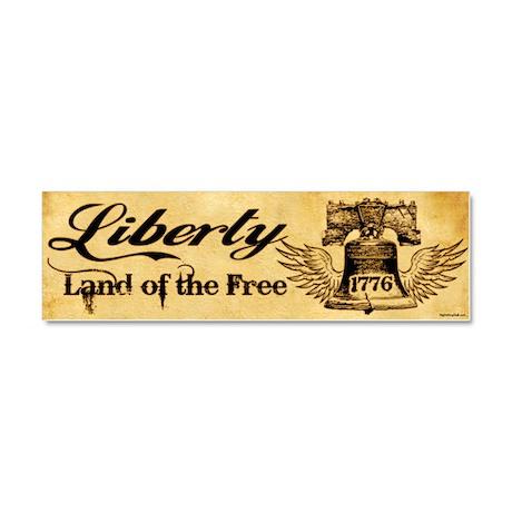 Liberty Bell Car Magnet 10 x 3