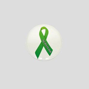 Green Ribbon 'Survivor' Mini Button