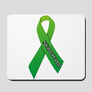 Green Ribbon 'Survivor' Mousepad