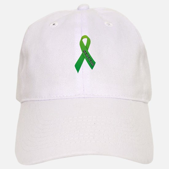 Green Ribbon 'Survivor' Baseball Baseball Cap