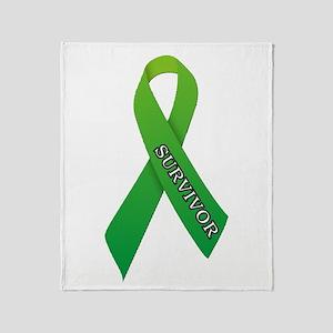 Green Ribbon 'Survivor' Throw Blanket