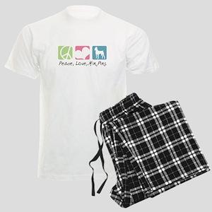 Peace, Love, Min Pins Men's Light Pajamas
