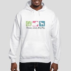 Peace, Love, Min Pins Hooded Sweatshirt